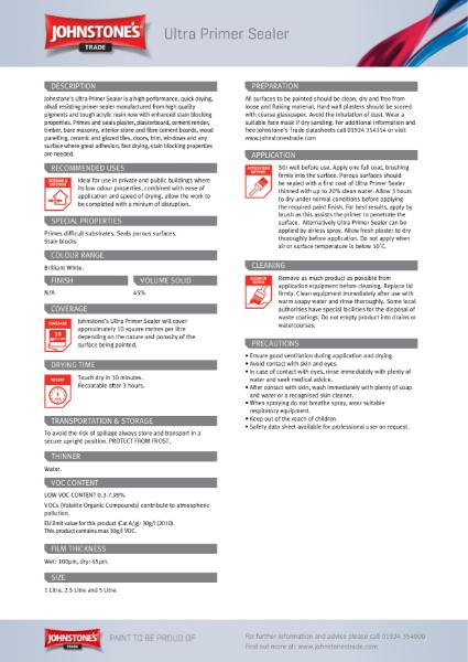 Performance Coatings - Primers - Product Datasheets
