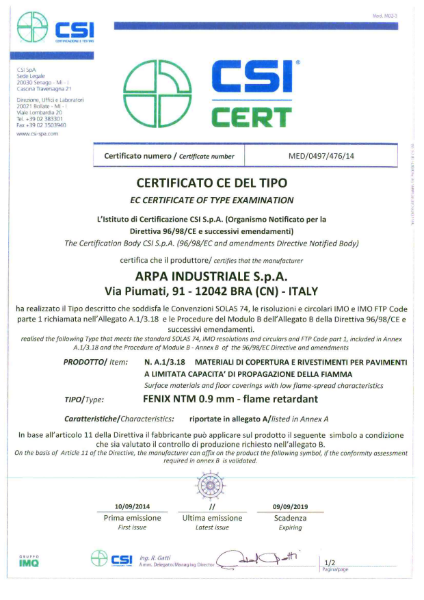 EC Certificate of Type Examination