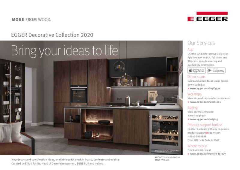 EGGER Decorative Collection 2020-22 Decor Reference Guide