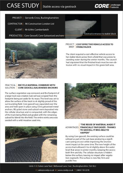 Access Road Install Using Geotrack