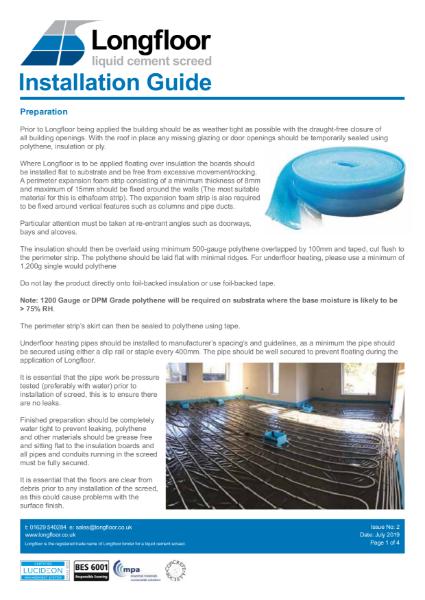 Longfloor Installation Brochure