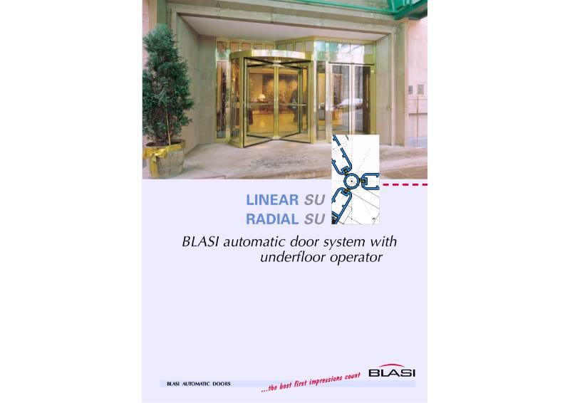 Record Linear SU Radial SU - Blasi automatic door system with underfloor operator