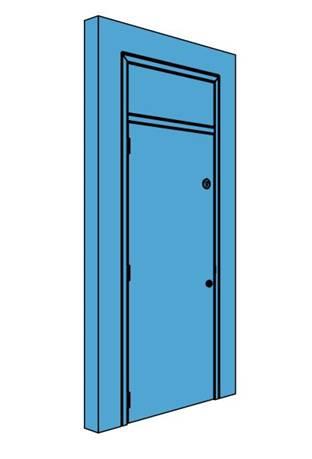 Single Metal Plant Room Door with Overhead Panel