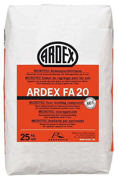 ARDEX FA 20 Levelling and Smoothing Compound for Timber Floors