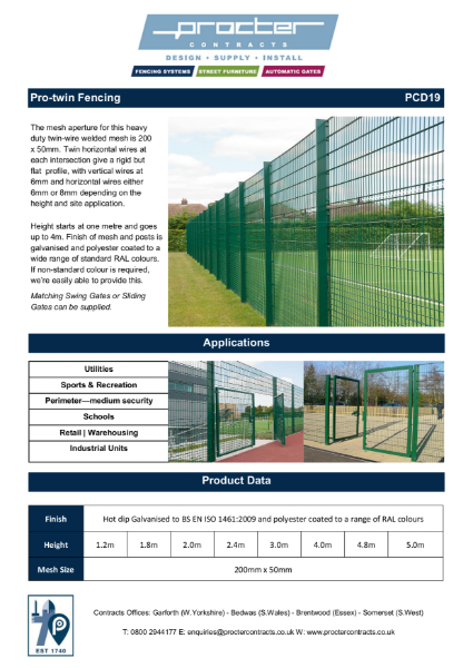 Pro-twin Fencing