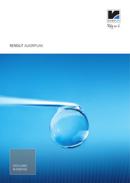General RENOLIT ALKORPLAN waterproofing membrane single ply Brochure