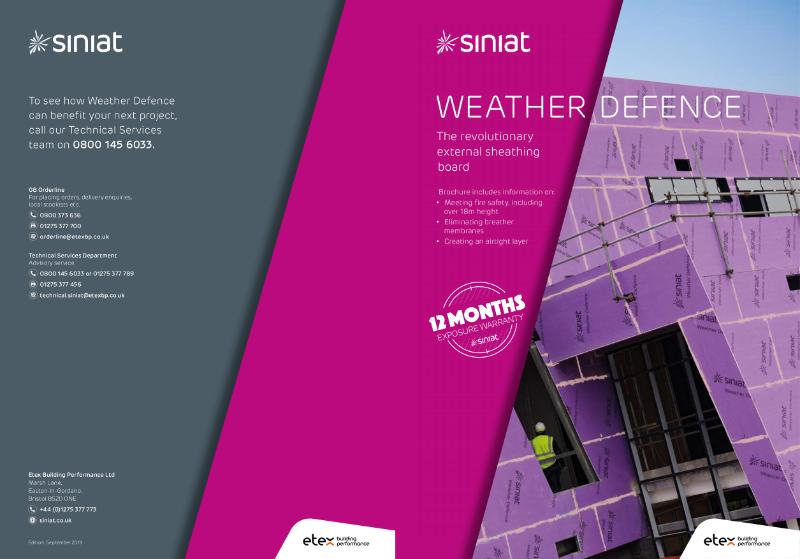 Siniat Weather Defence Brochure