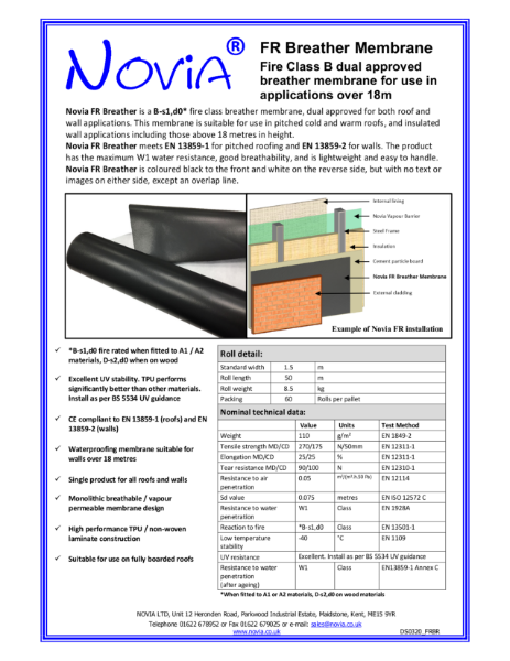 Novia FR Breather Membrane