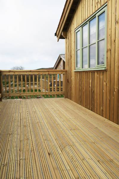 Decking - Meadowside Eco Lodges
