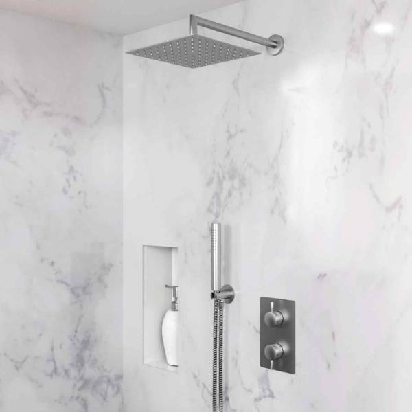 DB3903 Dolphin Shower Set with Wall Mounted Head and Handheld