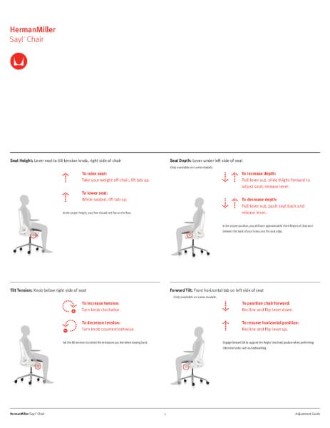 Sayl Chair - Adjustment Guide