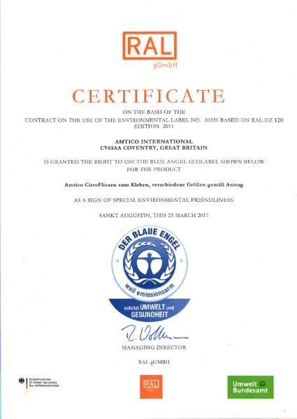 Blue Angel Certificate