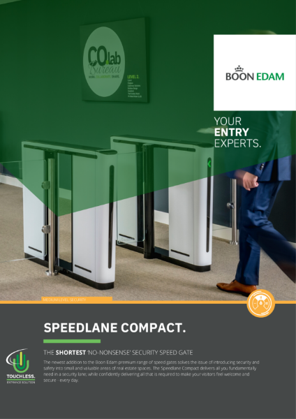 Speedlane Compact - the shortest 'no-nonsense' security speed gate