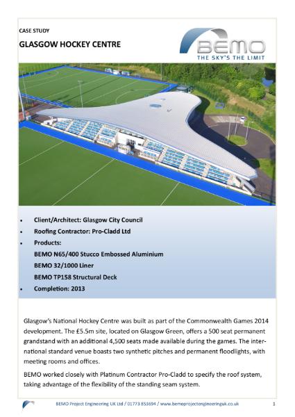 Glasgow Hockey Centre - Case Study