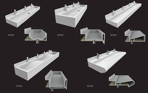 Solid Surface Troughs