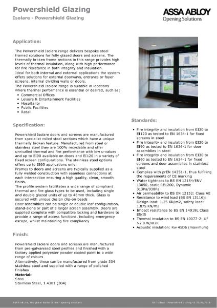 Isolare - Powershield Glazing