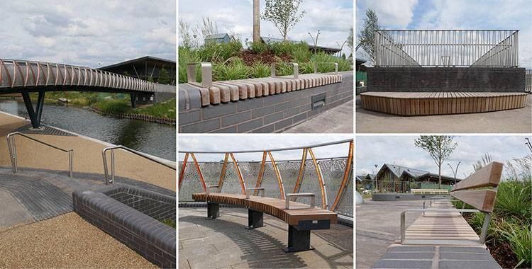 Bespoke outdoor furniture for Wichelstowe footbridge scheme