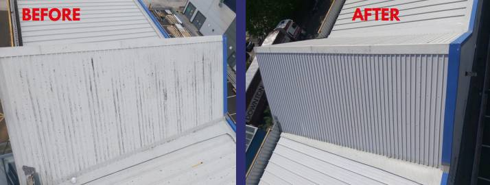 Kingdom House - Repairs to extreme cut edge corrosion on a large metal roof with Advantage Graphene