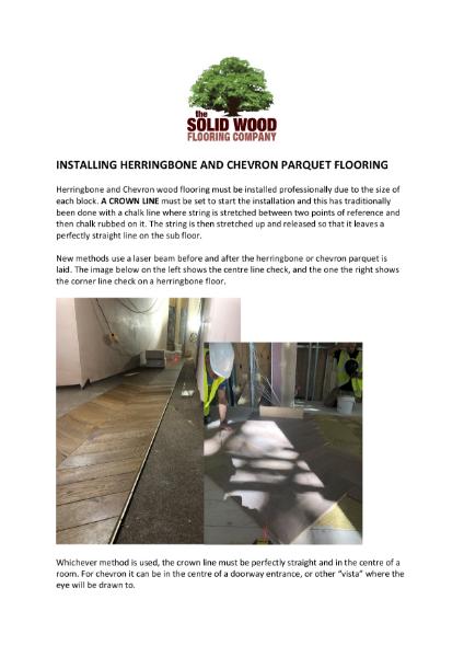 Herringbone & Chevron Installation Guide