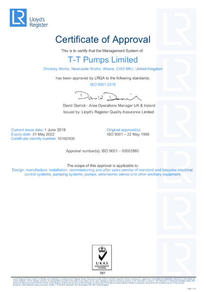 LRQA ISO9001:2015 Certificate
