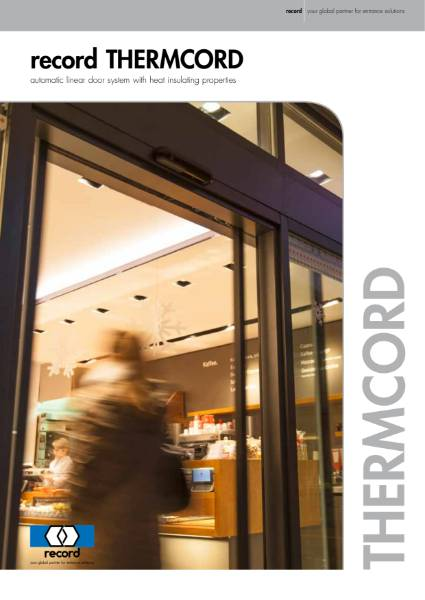 Record Thermcord automatic sliding door system
