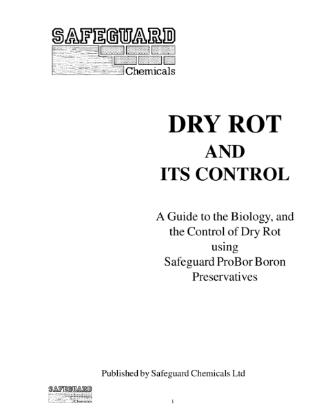 Dry Rot and Its Control