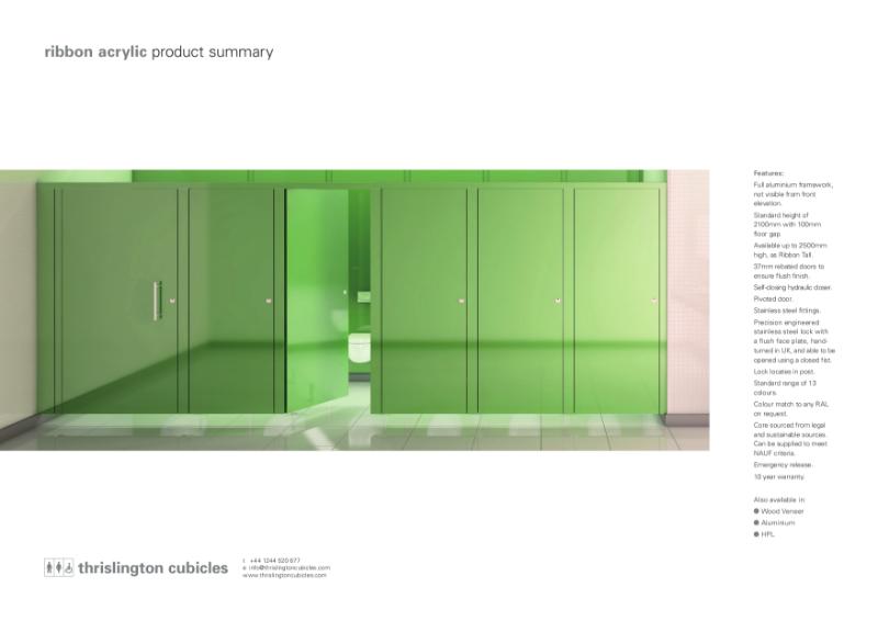 Thrislington Product Summary - Ribbon Cubicles