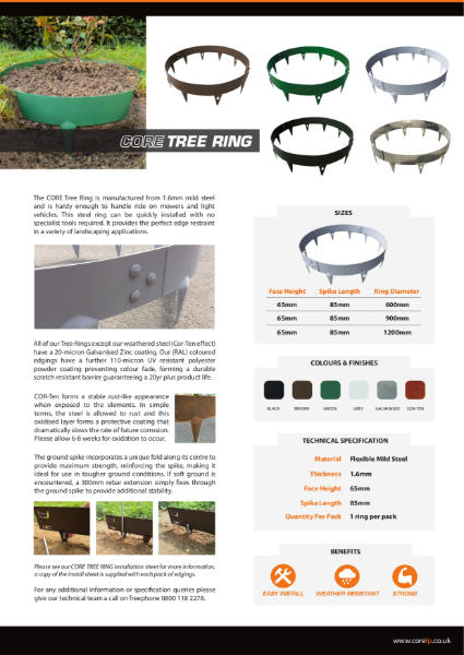 CORE TREE RING Specification Sheet