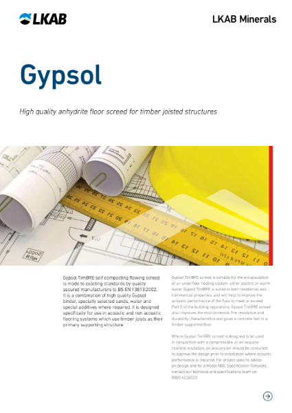 GYPSOL TimBRE Screed for Timber Floors