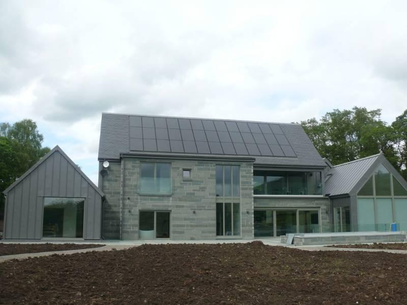 GreenCoat PLX Pural Metallic Dark Silver - Private Residence, Killearn