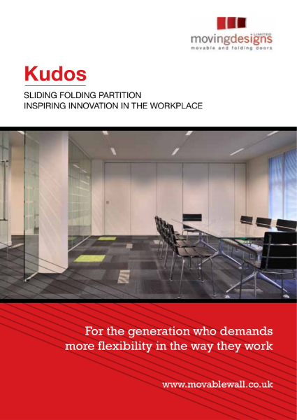 Kudos Sliding Folding Partition Brochure