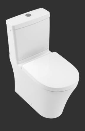O.novo Washdown WC for Close-coupled WC-suite, Horizontal Outlet 4606R0