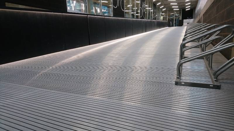 Neaco decking provides innovative cycle park at cutting edge offices