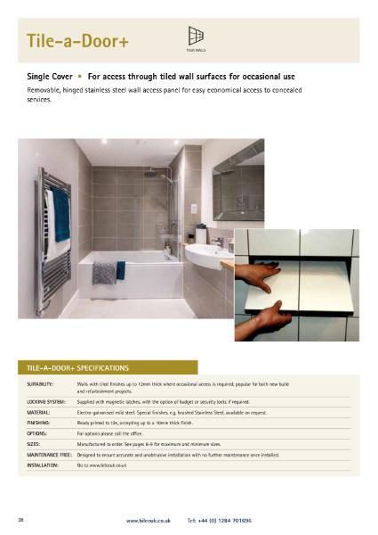 Tile-a-Door+ Wall Access Panel