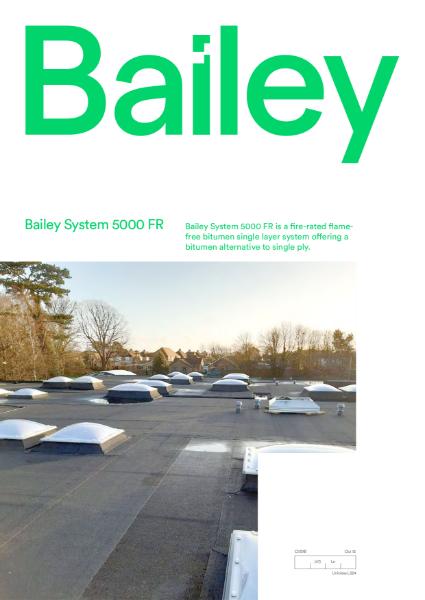 Bailey System 5000 FR Single Ply Bitumen Felt Brochure