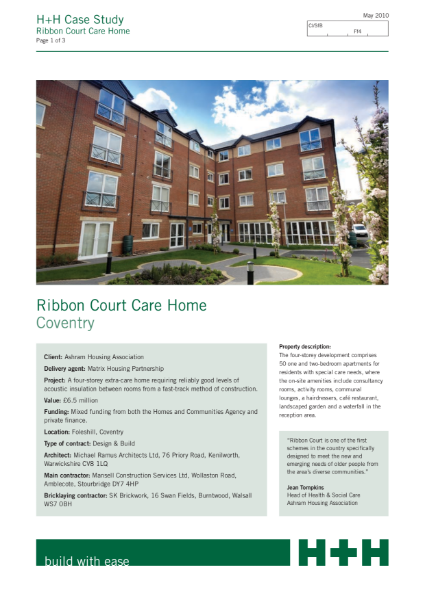 Case Study - Ribbon Court Care Home