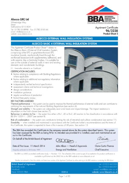 AG963238_3 ALSECCO BASIC 4 EXTERNAL WALL INSULATION SYSTEM