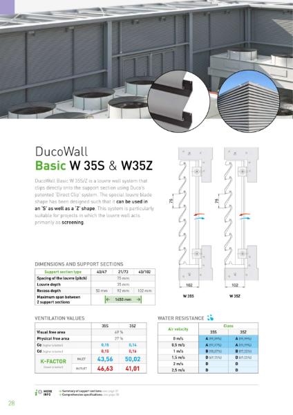 DucoWall Aluminium Louvre Plant Screening & Roof Turret
