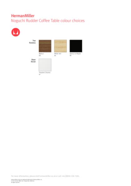 Noguchi Rudder Table - Colour Choices