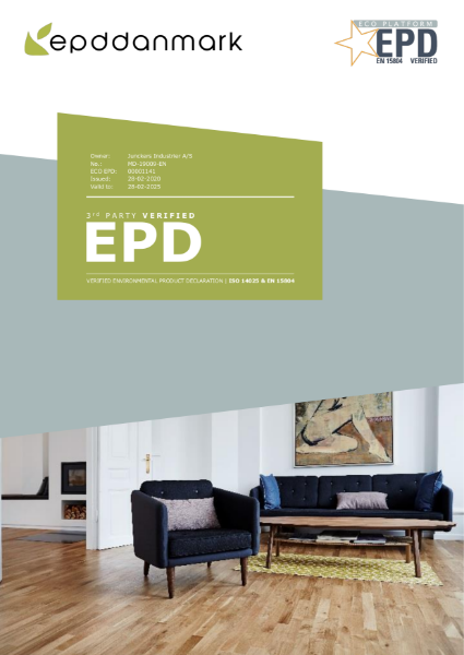EPD - Junckers solid wood two-strip flooring