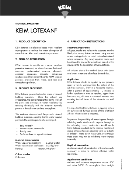 Keim Lotexan Technical Data Sheet