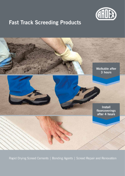 ARDEX Fast Track Floor Screed Brochure