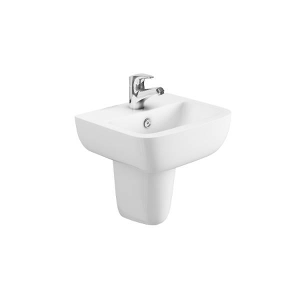 Designer Series 3 43 cm 1TH basin and semi pedestal set
