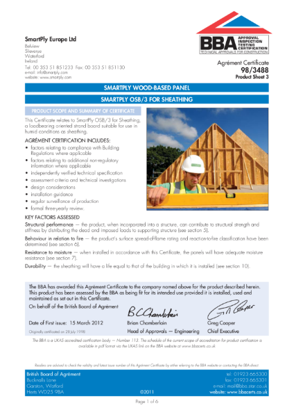 AG983488_3 - SMARTPLY OSB/3 FOR SHEATHING