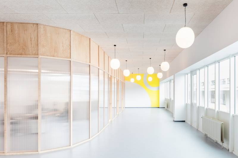 A welcoming entrance with Acoustic panels from Organic