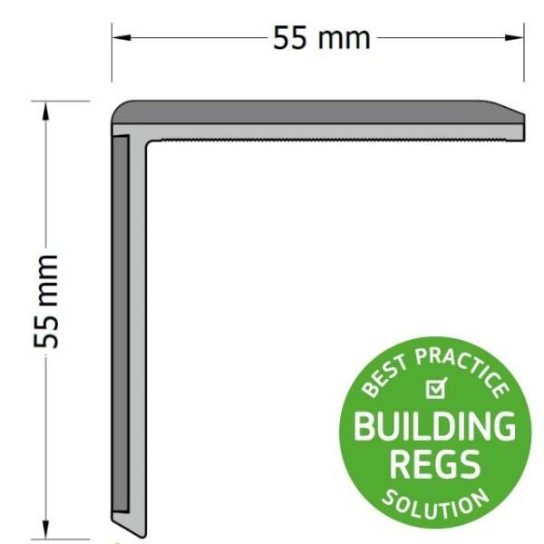 Q-Range Duo Stair Nosing (Stair Edging) 55 x 55 mm