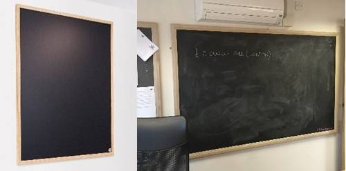 Sundeala Vitreous Enamelled Steel Chalkboard - Wooden Framed with Magnetic Writing Surface