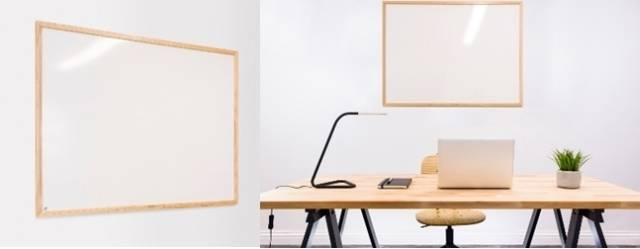 Sundeala High Pressure Laminate Whiteboard - Wooden Framed with Non-Magnetic Writing Surface