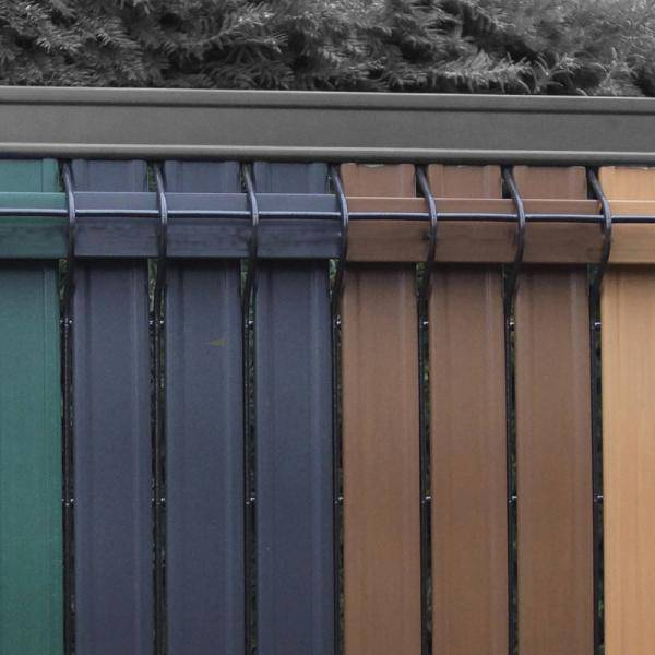Screeno Line 3D + Bekafix - Metal mesh fence panel