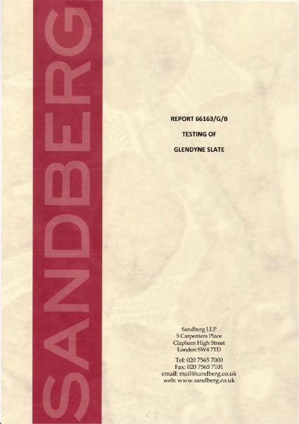GLENDYNE BSEN12326 TEST REPORT 2020